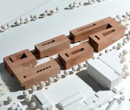 Minimalistic block model of the apartment blocks