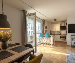 Interior view of a modern apartment in the Neue Weststadt