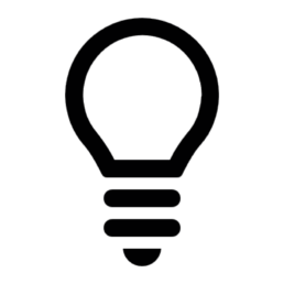 pictogram light bulb